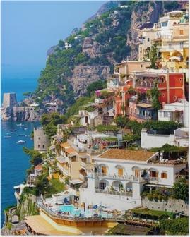 Positano, Italien. Amalfikysten Plakat