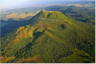 Plakat Puy de dome og Parc des Volcans d'Auvergne