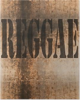 Reggae ord musik abstrakt grunge baggrund Plakat