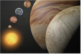 Satellit Europa, Luna di Giove, Spazio sistema solare Plakat