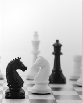 Schachspiel Plakat
