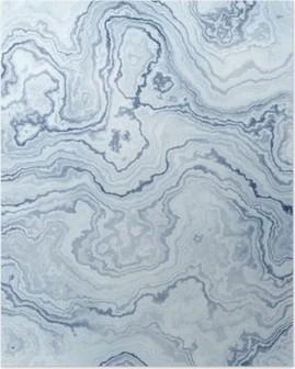 Seamless tekstur af blå marmor mønster til baggrund / illustration Plakat