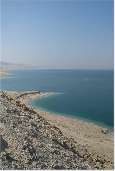 Plakat Serene utsikt over Dødehavet - Midtøsten