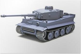 """Plakat Skalemodell Tysk tank """"TIGER"""""""