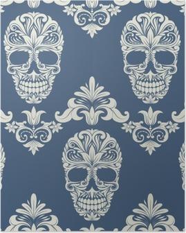 Skull Swirl Dekorativ Mønster Plakat
