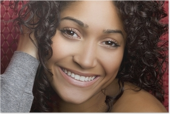 Plakat Smilende svart jente