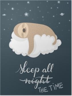 Plakat Sovende sloth poster
