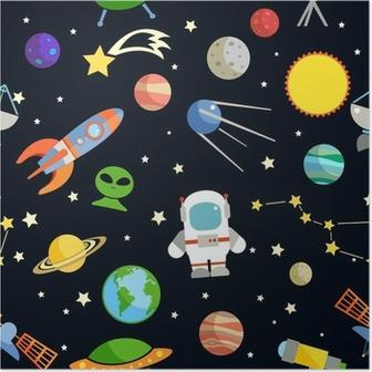 Plakat Space sømløs mønster