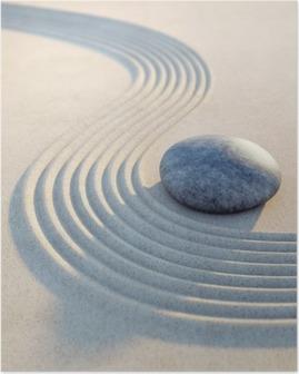 Plakat Stein und Wellen i Sand Hochformat