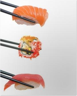 Plakat Sushi med spisepinner
