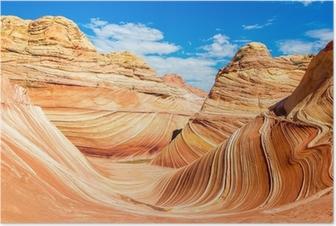 The Wave, Arizona Rocky Desert Plakat