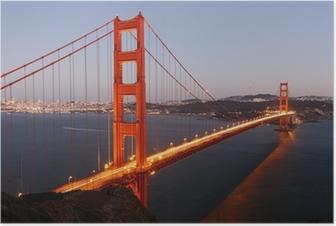 Udsigt til Golden Gate Bridge San Francisco / USA Plakat