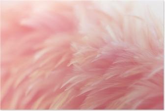 Plakat Uskarphet fugl kyllinger fjær tekstur for bakgrunn, fantasi, abstrakt, myk farge av kunst design.
