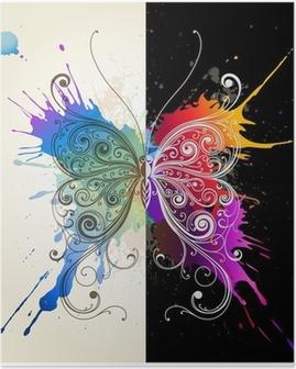 Plakat Vektor dekorative sommerfugl