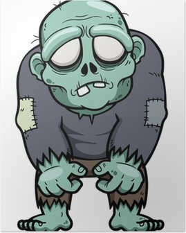 Plakat Vektor illustrasjon av tegneserie zombie