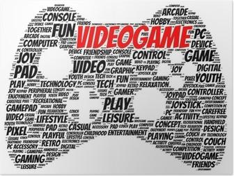 Plakat Video spill ord sky form