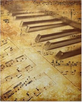 Vintage musikalsk baggrund Plakat