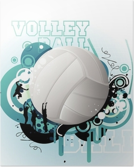 Plakat Volleyball vektor
