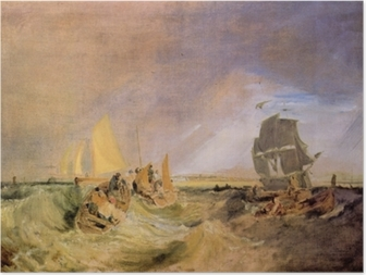 William Turner - Forsendelse ved udmundingen af Themsen Plakat