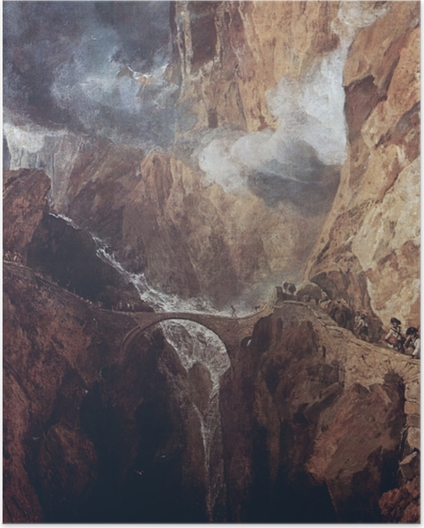 William Turner - Pass of St. Gotthard Plakat -
