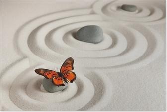 Plakat Zen bergarter med sommerfugl