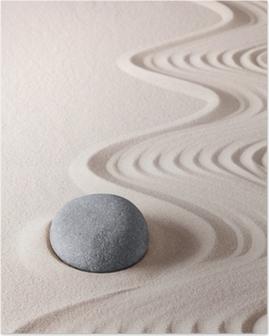 Zen meditation sten Plakat