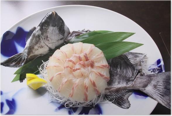 Plakát 鯛 の 刺身 - Jídla