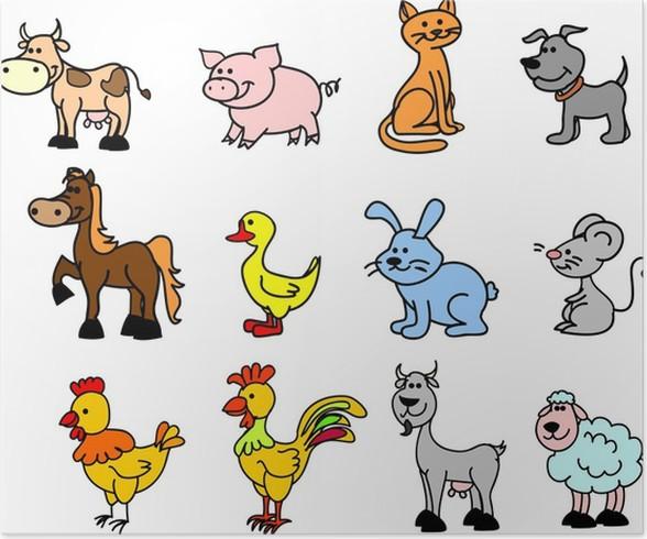 Plakát Животных фермы - Savci
