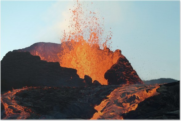 Plakát 4 sopka - Přírodní katastrofy