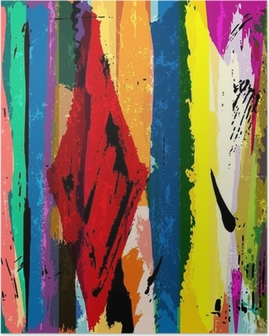 Plakat Abstrakcyjne tło z paskami, farby obrysy i plamy,