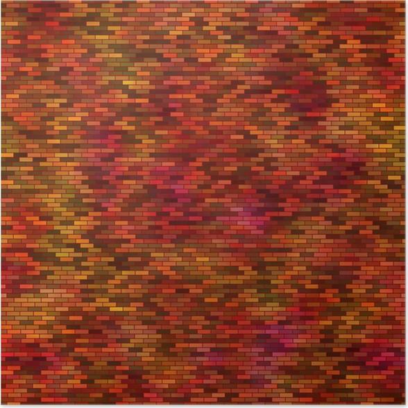 Plakát Abstraktní barevné čtverce bezešvé dlaždice na pozadí - Umění a tvorba