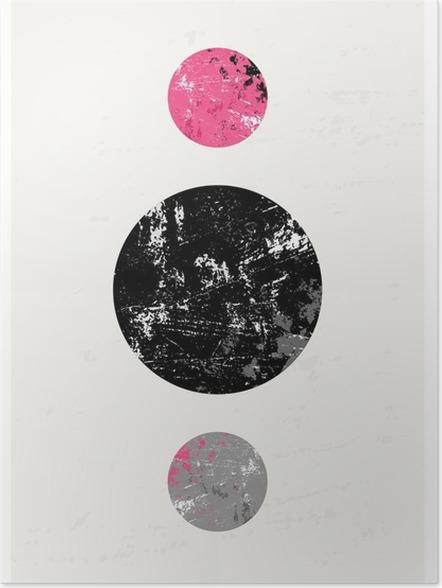 Plakát Abstraktní geometrické kompozice - Grafika