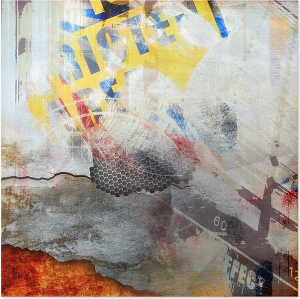 Plakát Abstraktní kompozice, barva pozadí - Pozadí