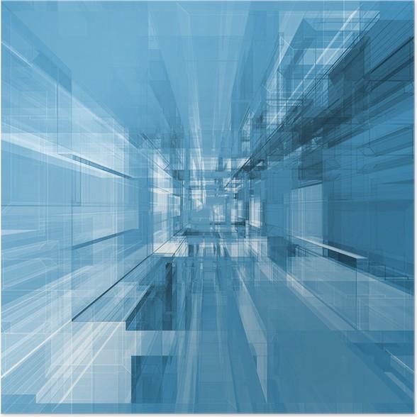 Plakát Abstraktní projekt - Těžký průmysl