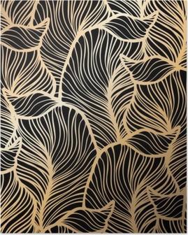 Plakat Adamaszek bezszwowe kwiatowy wzór. Tapeta royal