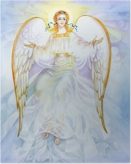"Plakát Akvarel ""Anděl"""