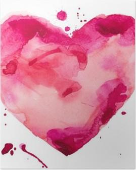 Plakat Akwarela serca. Koncepcja - miłość, związek, sztuki, malarstwo
