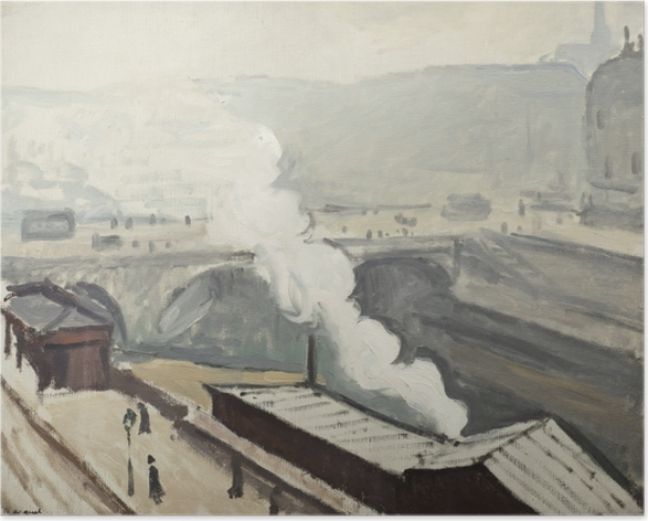 Plakat Albert Marquet - Dym na nabrzeżu Saint-Michel - Reproductions