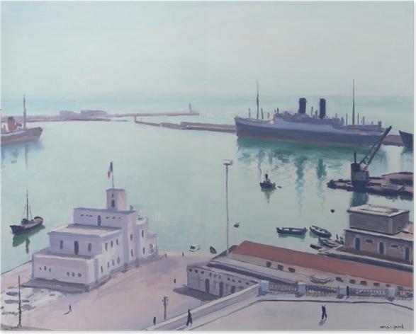 Plakat Albert Marquet - Port w Algierze, Gmach Admiralicji - Reproductions