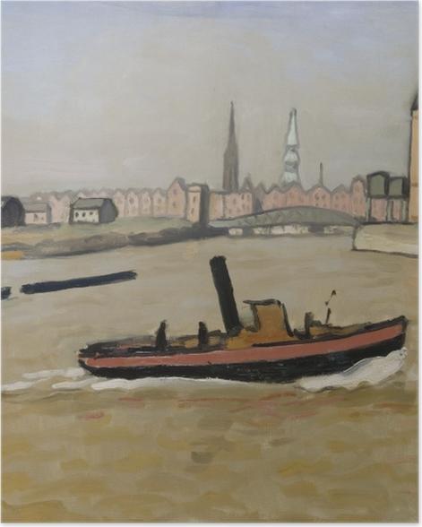 Plakat Albert Marquet - Port w Hamburgu - Reproductions