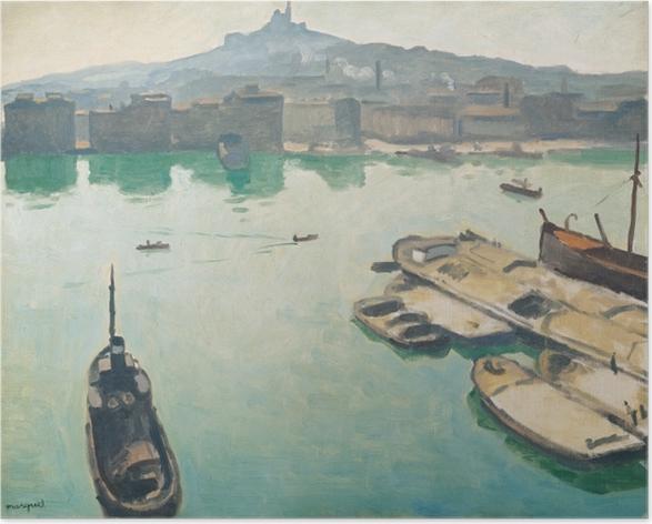 Plakat Albert Marquet - Port w Marsylii - Reproductions