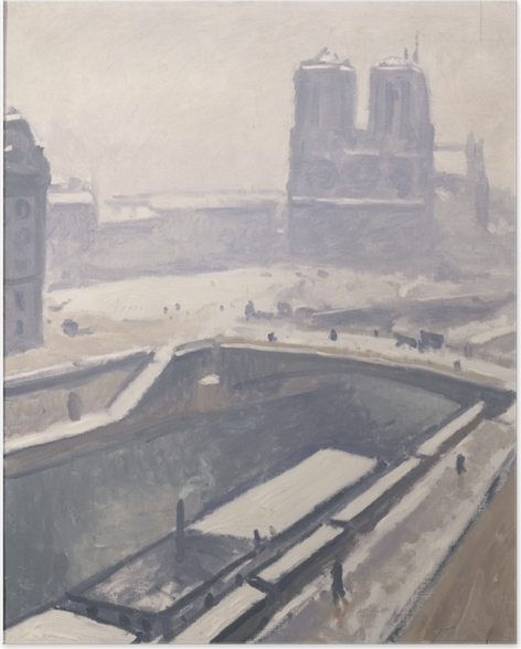 Plakat Albert Marquet - Widok na Notre-Dame - Reproductions