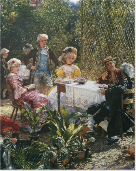 Plakat Aleksander Gierymski - W altanie - Reproductions