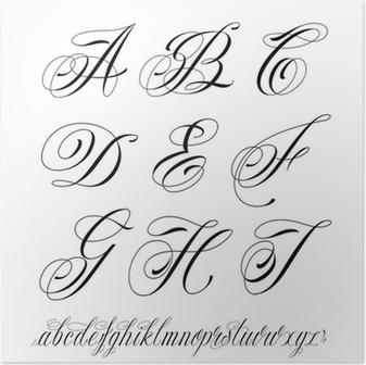 Alfabet Styl Tatuaż
