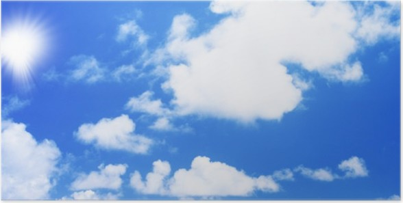 Plakát Alžír modrá obloha - Afrika