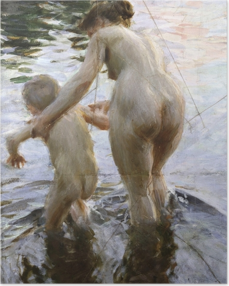 Plakat Anders Zorn - Pierwszy raz - Reproductions