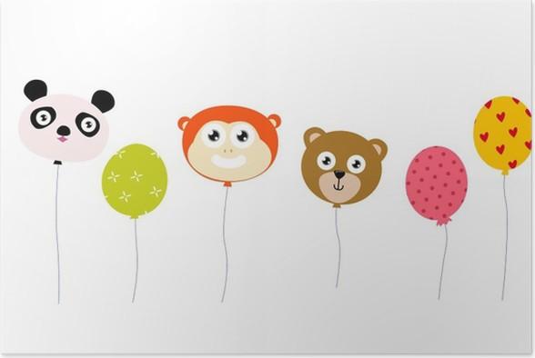 Plakát Animal balón - Savci