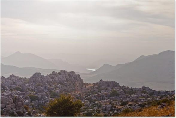Plakát Anochecer en paisaje Kárstico - Nebe