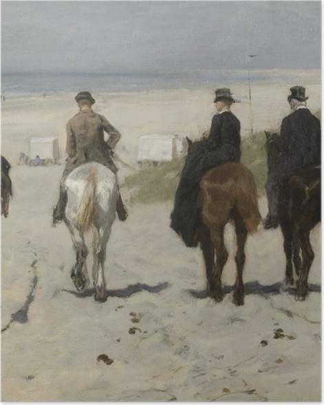 Plakat Anton Mauve - Poranna przejażdżka po plaży - Reproductions