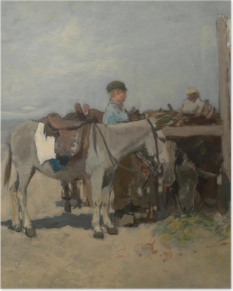 Plakat Anton Mauve - Stanowisko dla osłów na plaży w Scheveningen - Reproductions